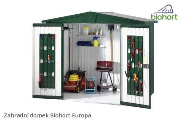 Biohort Zahradní domek EUROPA 2, stříbrná metalíza