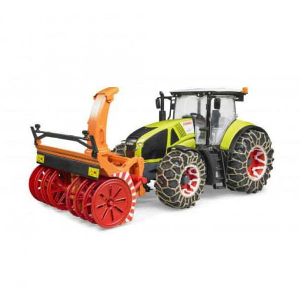 BRUDER - Traktor CLAAS Axion se sněžní frézou