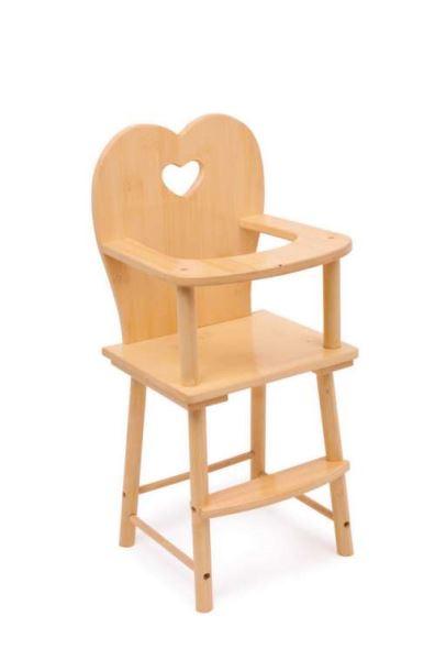 Stolička dřevěná přírodní