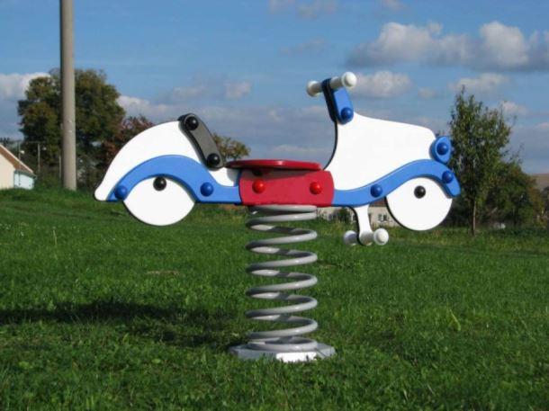 PRUŽINOVÁ HOUPAČKA Monkey´s polyetylen Auto