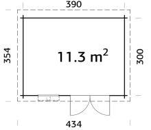 Zahradní domek ELSA 11,3 m2