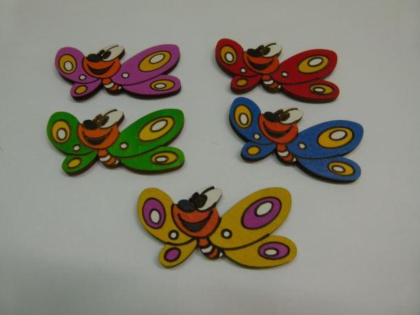 Dřevěná dekorace Motýl 85 1ks/bal.