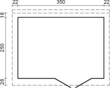 ZAHRADNÍ DOMEK Lara 8,4 m2