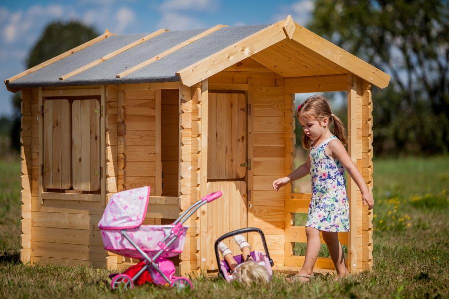 Dětský dřevěný domek M501