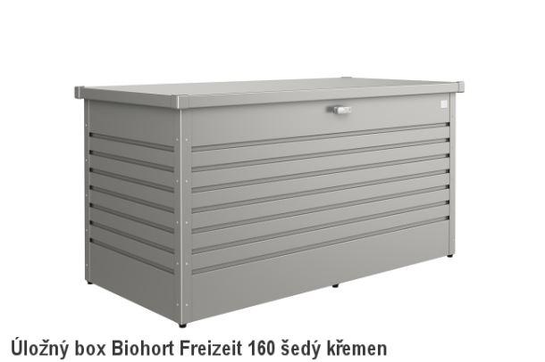 Biohort Úložný box FreizeitBox 160HIGH, šedý křemen metalíza