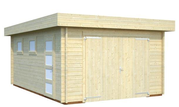 GARÁŽ Rasmus 19 m2 - s dřevěnými dveřmi