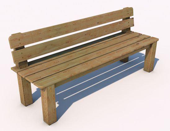 Monkey´s lavička s opěradlem 12 - 2000
