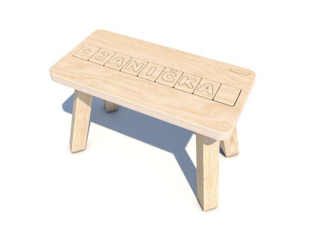 Dřevěná dětská Stolička HEROLD se jménem