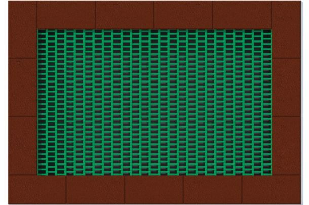 Zemní trampolína ORTA - obdelníková 1,75x2,5