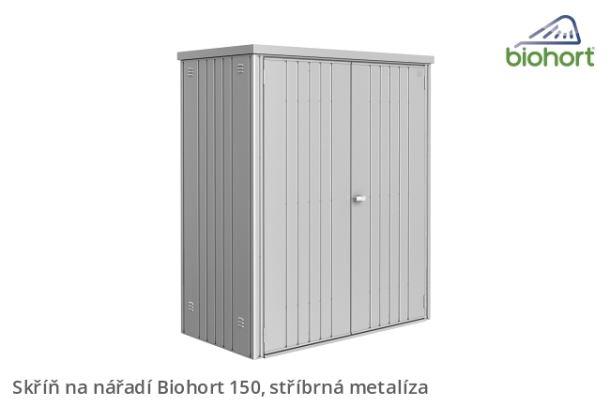 Biohort Skříň na nářadí 150, stříbrná metalíza