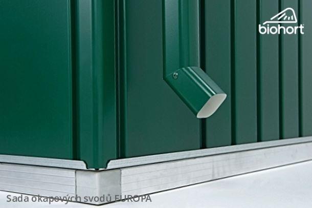 Biohort Sada okapových svodů pro EUROPA, tmavě zelená, 2 kusy