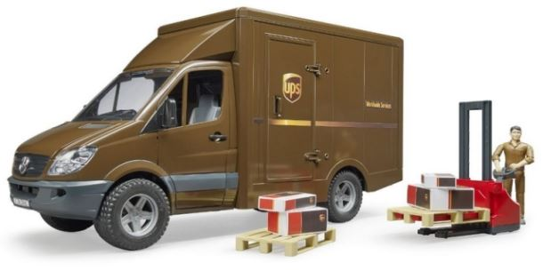 BRUDER - MB Sprinter UPS s řidičem a příslušenstvím