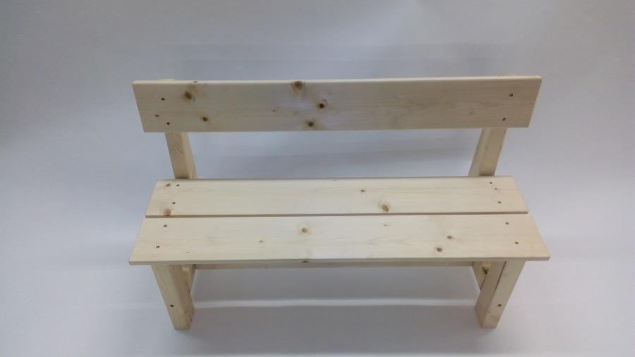 Dětská dřevěná lavice s opěradlem Dáša