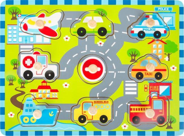 Dřevěné Puzzle City Traffic