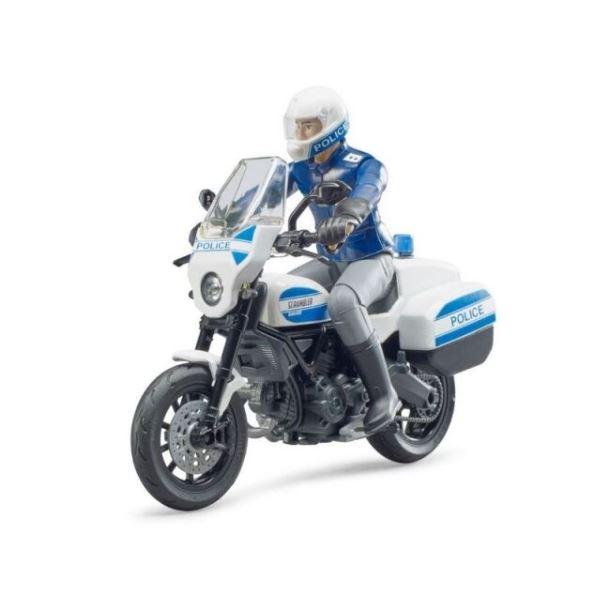 BRUDER - Policejní  motocykl  Ducati  Scrambler s jezdcem