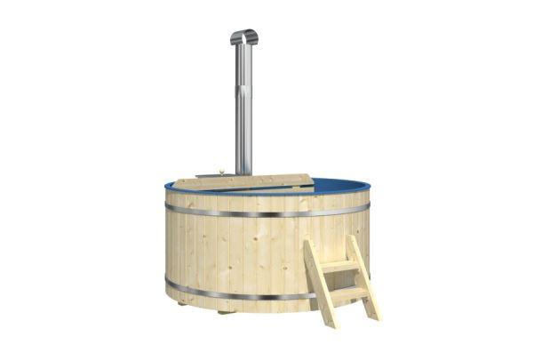 Hot Tub 170  Koupací sud s plastovou vanou, vnitřní kamna