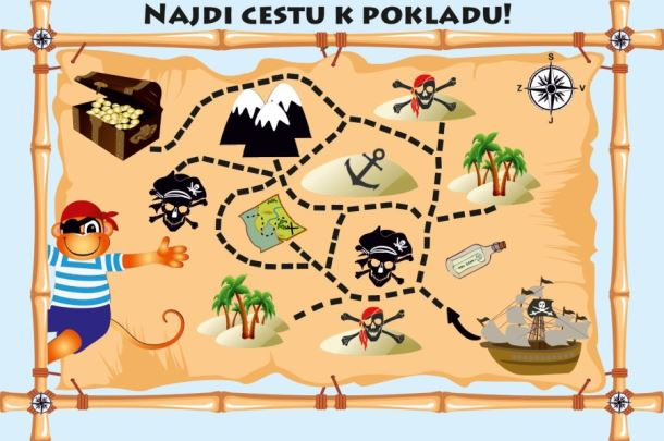 Hra mapa pirát