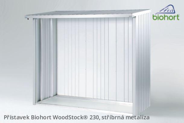 Biohort Zadní stěna WoodStock® 230, tmavě šedá metalíza