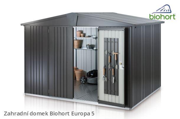 Biohort Zahradní domek EUROPA 5, šedý křemen metalíza