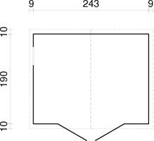 ZAHRADNÍ DOMEK Dan 4,6 m2 - na nářadí