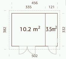 ZAHRADNÍ DOMEK Kalle 13,7 m2