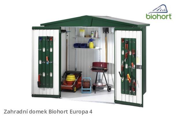 Biohort Zahradní domek EUROPA 4, tmavě šedá metalíza