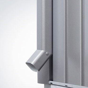 Biohort Sada okapových svodů pro HIGHLINE®, šedý křemen metalíza, 2 kusy