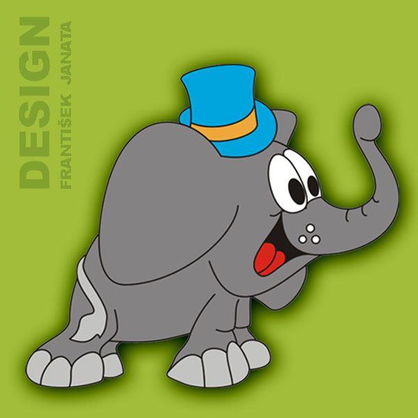 dřevěná dekorace - Slon klobouk 650x500