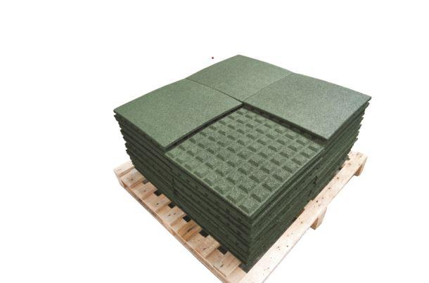 Pryžová deska 0,5x0,5 m zelená - výška pádu 1m
