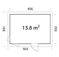 ZAHRADNÍ DOMEK Etta 13,6 m2