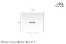 Biohort Zahradní domek EUROPA 7, tmavě šedá metalíza