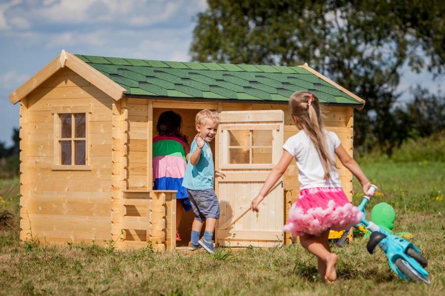 Dětský dřevěný domek M503A