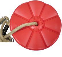Lanová dráha + houpačka  Monkey´s Home Disk červená