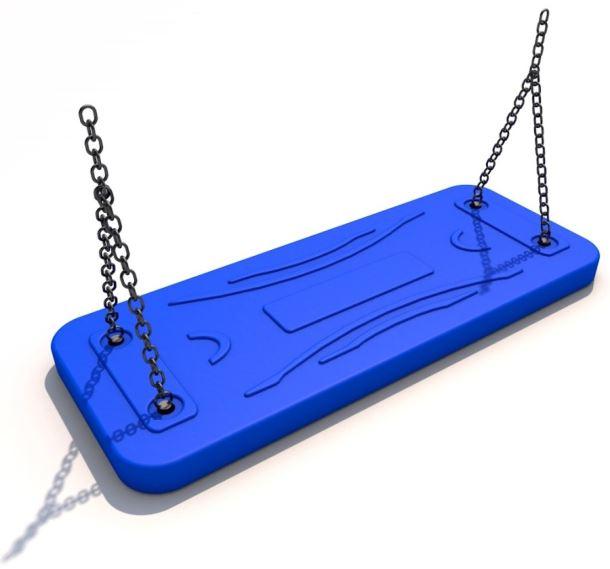 Houpačka aluminium modrá