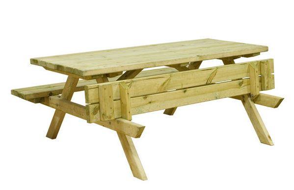 Impregnovaný piknikový stůl malý 150x132x73,5 cm