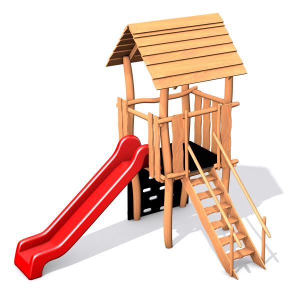 Monkey's sestava se skluzavkou se  střechou z akátu III.