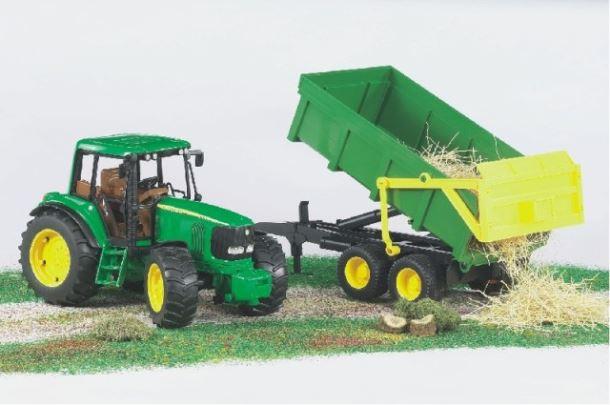 BRUDER - Traktor John Deere se sklápěcím valníkem