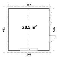 Garáž NORDIC+ Andre 28,5 m2 557x576 cm