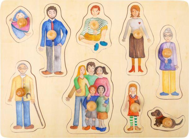 Puzzle rodina a přátelé
