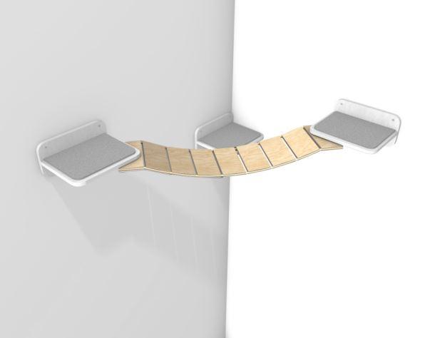 Dřevěný most pro doplnění škrabadla 2