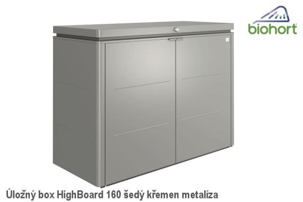 Biohort Úložný box HighBoard 160, šedý křemen metalíza