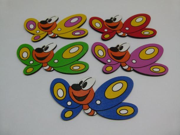 Dřevěná dekorace Motýl 180 1ks/bal.