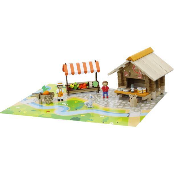 Dřevěná stavebnice Jeujura Farmářské trhy