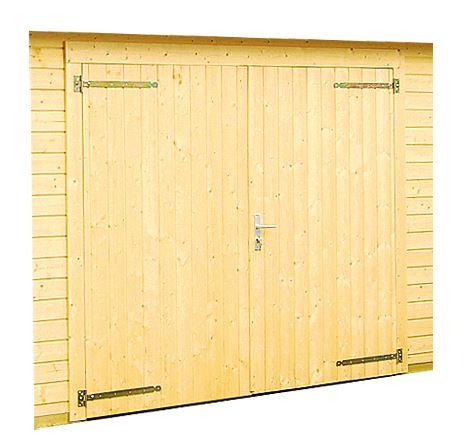 Garážová vrata dřevěná 225x194 cm