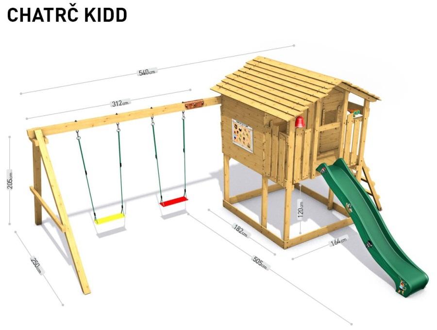 Dětský domeček Monkey´s Home Chatrč pirát Kidd