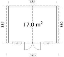 Zahradní domek EKO-LINE Ester B 17 m2