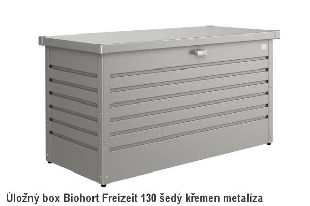 Biohort Úložný box FreizeitBox 130, šedý křemen metalíza