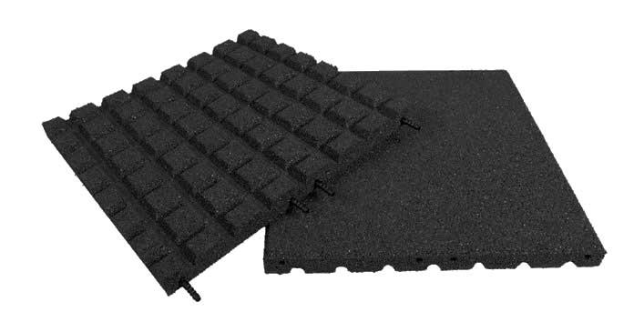 Pryžová deska 1x1m černá - výška pádu 1,7 m