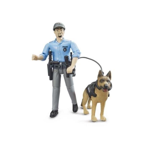 BRUDER - Figurka Policista se psem