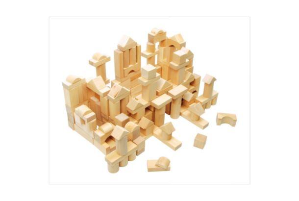 Přírodní dřevěné kostky 100ks/bal.